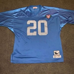 barry sanders detroit lions hall of fame jersey